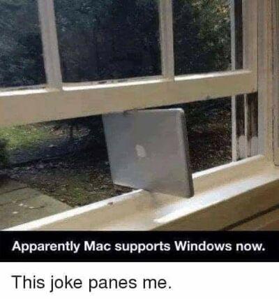 Meme de Apple Ventana