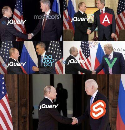 Meme de Putin, jquery y USA